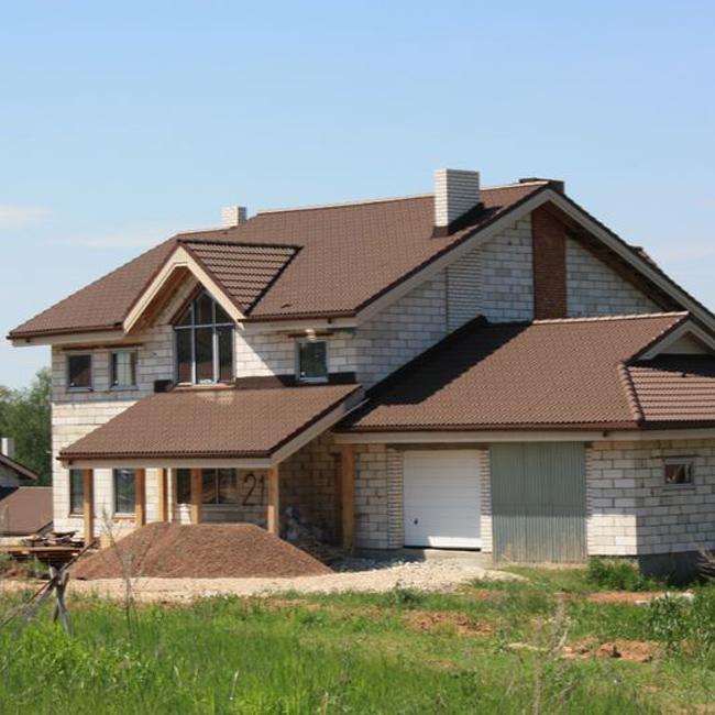 Каркасный дом на винтовых сваях своими руками