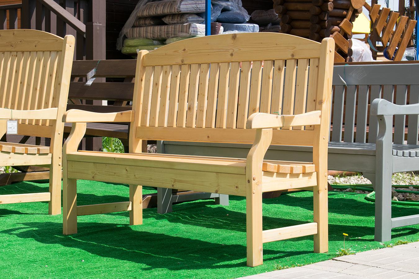 Изготовление скамеек из дерева своими руками фото