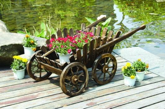 Кашпо для цветов тачка 1401