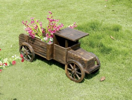 Кашпо для цветов машина 1412л