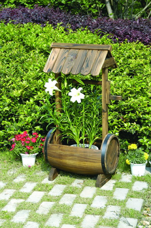 Декоративная колодец для сада своими руками фото