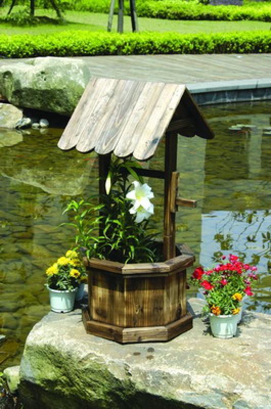 Кашпо для цветов колодец 4102