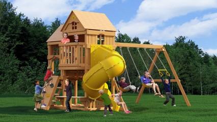 Детская площадка «Панорама» с трубой