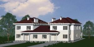 Проект двухквартирного двухэтажного жилого дома Rg1567