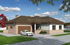 Проект функционального одноэтажного дома Rg1576