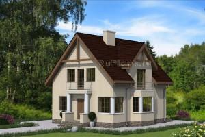Проект индивидуального  одноэтажного  жилого дома с мансардой Rg4768