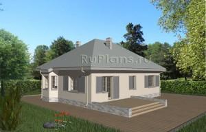 Проект уютного коттеджа Rg3556