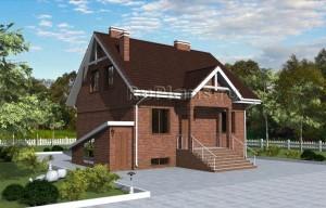 Проект просторного дома с мансардой и цокольным этажом Rg3247