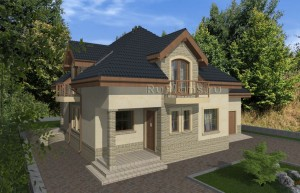 Просторный одноэтажный дом с мансардой Rg4974