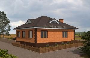 Проект уютного одноэтажного дома. Rg5017