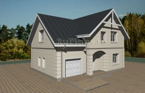 Уютный дом с мансардой Rg3677