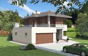Двухэтажный дом с большой террасой над гаражом Rg3911