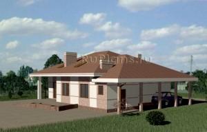 Проект одноэтажного жилого дома Rg3334