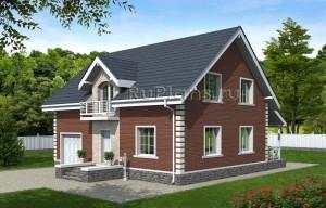 Проект одноэтажного дома с мансардой Rg4734