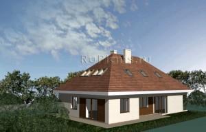 Проект одноэтажного дома с мансардой и гаражом Rg3351