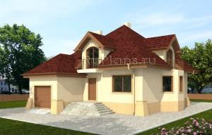 Проект одноэтажного дома из пенобетона Rg3977