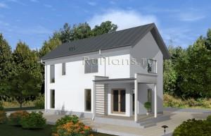 Проект двухэтажного дома для узкого участка Rg4879