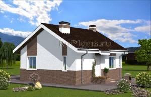 Проект компактного одноэтажного дома Rg4820