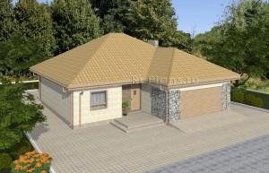 Проект индивидуального одноэтажного жилого дома Rg4923