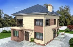 Проект двухэтажного дома с чердаком Rg4906
