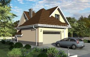 Проект загородного одноквартирного двухэтажного жилого дома Rg1581