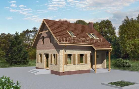 Проект небольшого дома с мансардой Rg3439