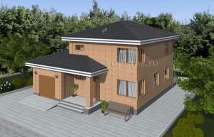Проект двухэтажного дома с подвалом Rg4926