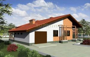 Проект комфортного одноэтажного дома Rg3225