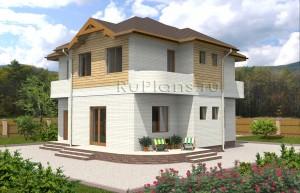 Проект двухэтажного дома Rg3980