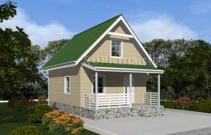 Проект одноэтажного дома с мансардой Rg4834