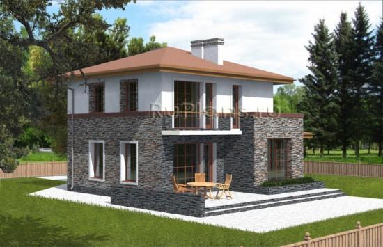 Проект небольшого двухэтажного коттеджа Rg3835