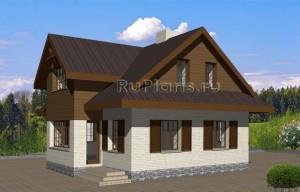 Проект экономичного жилого дома с цоколем Rg3558