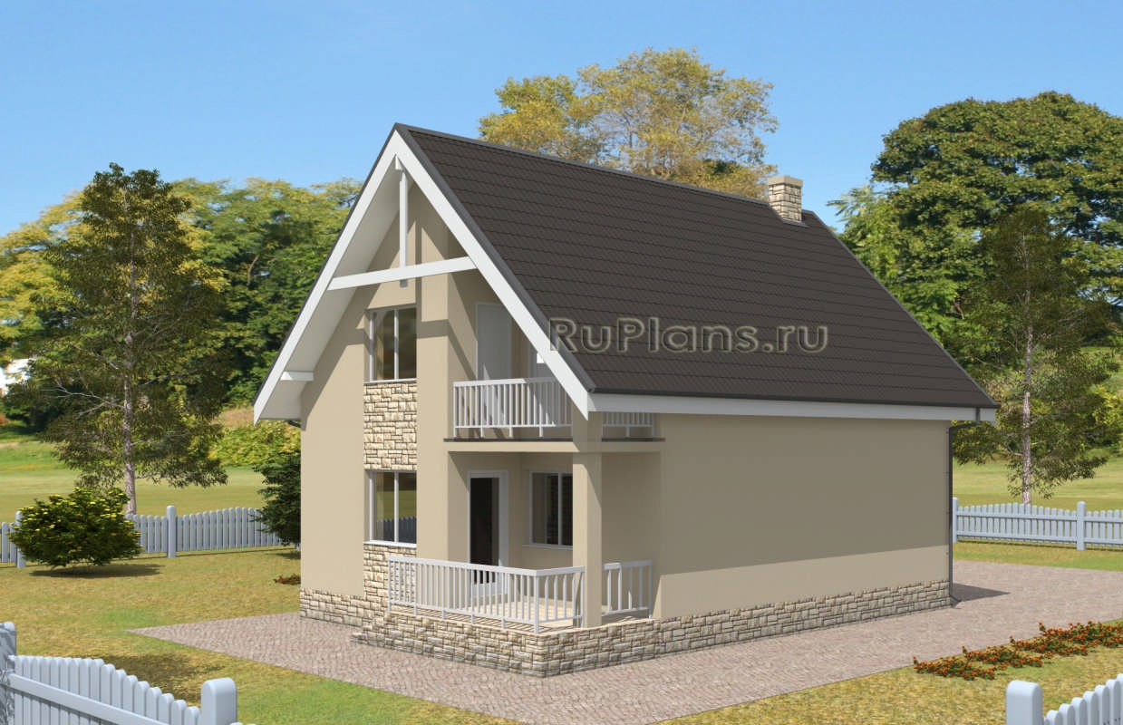 Дом с мансардой, гаражом, террасой и балконом rpg2419 в одес.