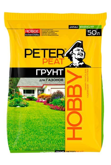 Грунт для газонов Peter peat HOBBY