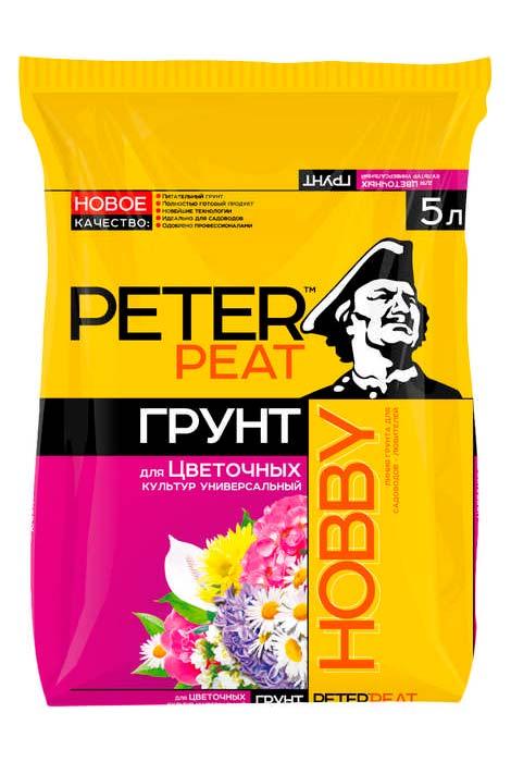 Грунт для цветочных культур Peter peat HOBBY