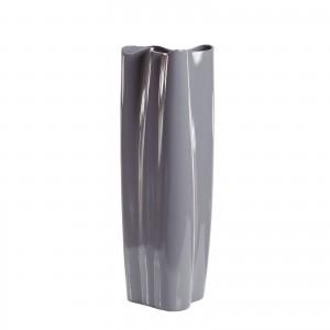 Ваза керамическая (глянцевый серый)