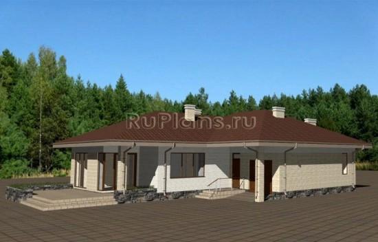 Проект индивидуального одноэтажного жилого дома Rg3237