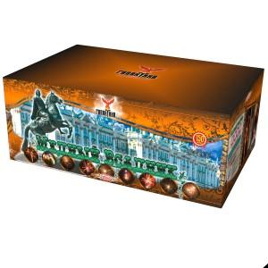 Батарея салютов Галактика Медный всадник в коробке