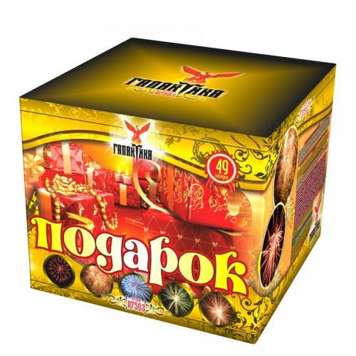 "Батарея салютов Галактика ""Подарок"" в коробке"