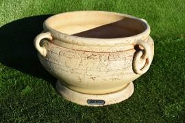"""Керамический вазон """"Котел"""" с кольцами"""