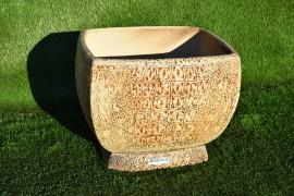 """Керамический вазон """"Кипр"""" с крокодиловой кожей"""