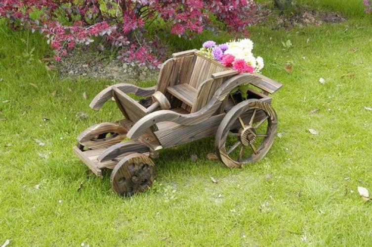 Кашпо для цветов машина-кабриолет 1415