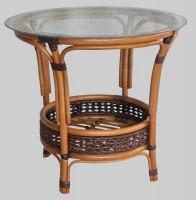 Столик круглый PELANGI (со стеклом)