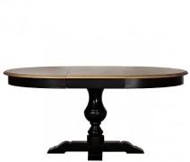 Обеденный стол круглый черный