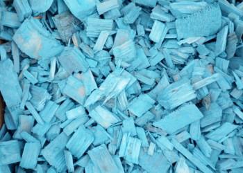 Щепа декоративная голубая
