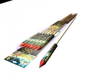 Ракета Меркурий, пиротехника