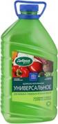 Добрая сила Удобрение универсальное для овощных, плодовых и ягодных культу, 3л.