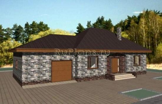 Проект небольшого одноэтажного дома Rg3243