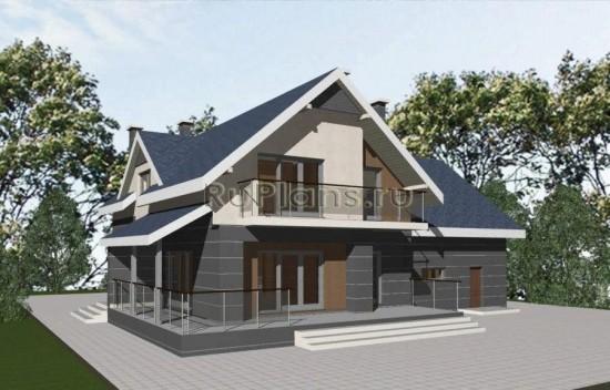 Проект просторного дома с большим гаражом Rg1620