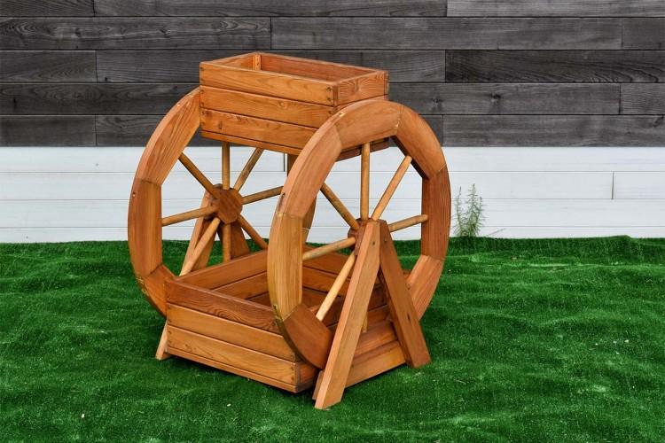 Кашпо деревянное двухъярусное